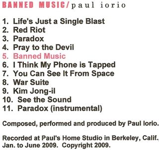 "Back cover of ""Banned Music."""